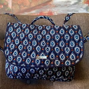 Vera Bradley Convertible Backpack/Mailbag navy